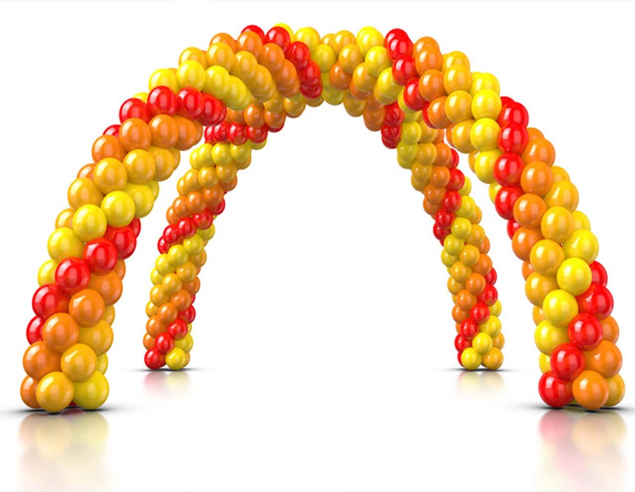 Arches et grappes de ballons - Décoration Ballons et diverses pour vos festivités en Hautes Pyrénées (65),Gers (32), Landes (40) et Pyrénées-Atlantiques (64)