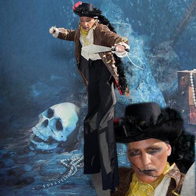 Echassier de rue pour votre évènement d'Halloween en Hautes Pyrénées (65), Gers (32), Landes (40), Haute Garonne (31) et Pyrénées-Atlantiques (64)
