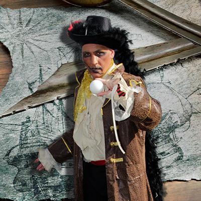 Spectacle pirate interactif pour enfants pour vos festivités en Hautes Pyrénées (65), Gers (32), Landes (40) et Pyrénées-Atlantiques (64)